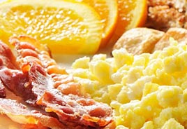 Bacon, Eggs, Orange Slices